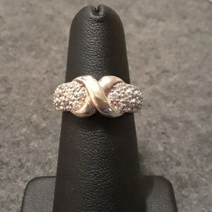 Sterling silver diamonique CZ ring size 6